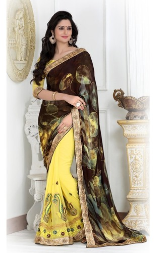 Party Wear Embroidered Saree