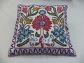 Cotton Crewel Cushion Cover