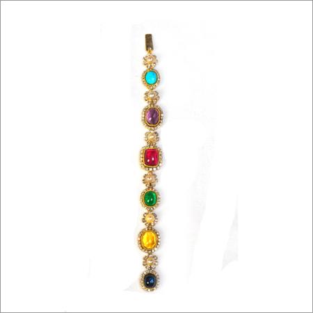 Bracelet In Diamonds And Multi Coloured Stones