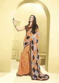 Trendy Bordered Saree