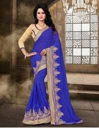 Latest Designer Blue Saree