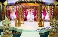 Indian Wedding Wooden Handicraft Mandap