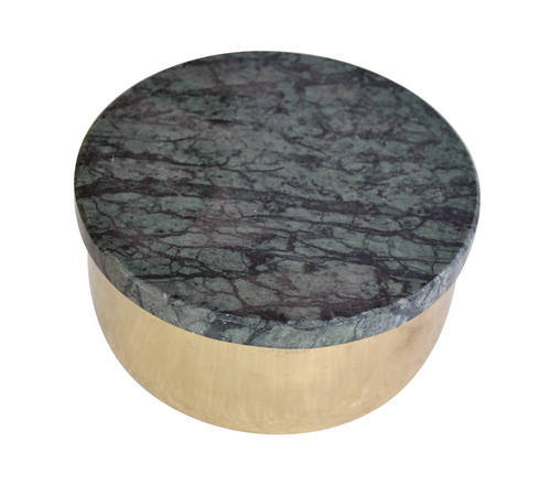 Iron Container with Stone Lid
