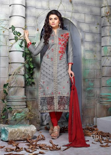 Attractive Embroidered Dress