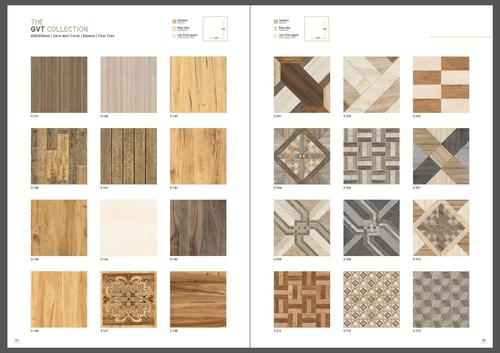 Breccia-crema glazed vitrified tiles