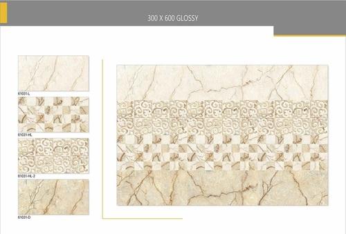 Natural-stone glazed vitrified tiles