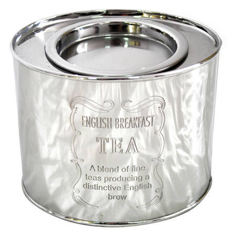 Steel Tea Box Container Oval