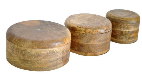 Wooden Round Boxes S/3