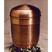 Designer Brass Metal Cremation Urn-Copper