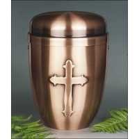 Bronze Cross Metal cremation Urn