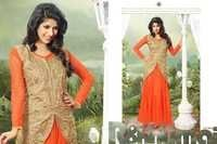 Anarkali Gown With Stylish Coti