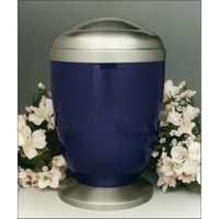Blue Metal Cremation Urns