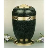 Green Patina Brass Metal Cremation Urns