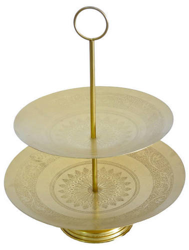 Iron Cake Stand with Gold Finish