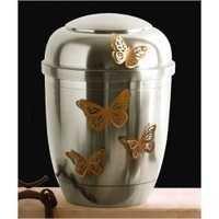 Butterfly Brass Metal Cremation Urns
