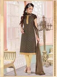Embellished Embroidered Chudidar Dress
