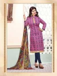 Designer Dress With Multicolor Dupatta
