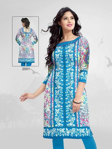 Pure Cotton Unstitched Kurti Materials