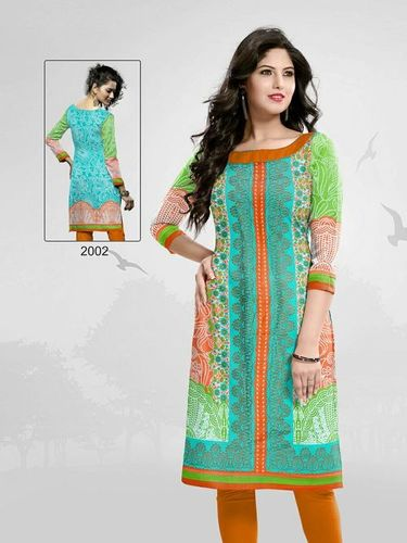Cotton Printed Kurtie Materials Online