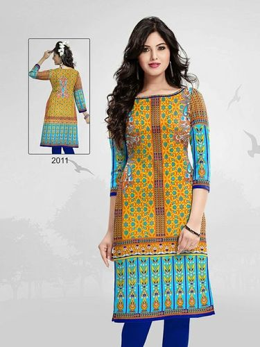 Cotton Printed Kurti Materials Wholesale