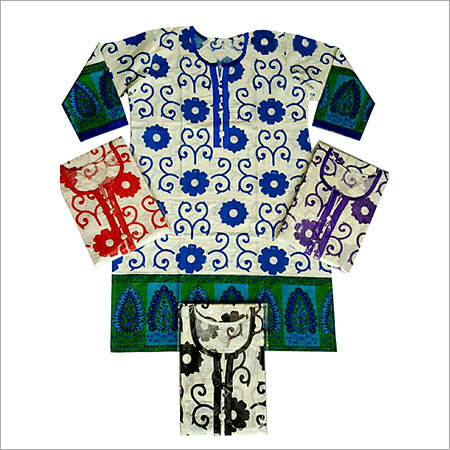 Stitched Printed Cotton Kurtis