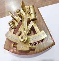 Nautical Brass Sextant with Box