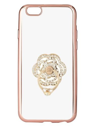 Iphone 6 Mobile Back Soft Cover With Finger Ring Floral