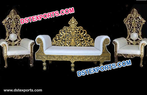 Wedding Stage Sofa Set & Chairs for Bride & Groom