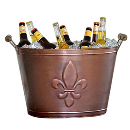 Copper Finish Beverage Bucket, Medium, Bronze