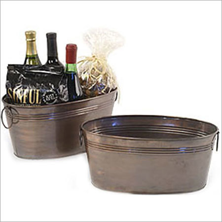 Copper Galvanized Multifunctional Antique Bucket