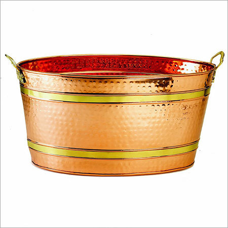 Oval Decor Copper Party Tub