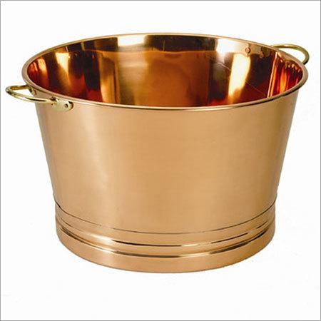 Round Decor Copper Party Tub