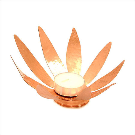 Flower Shape Copper Candle Holder