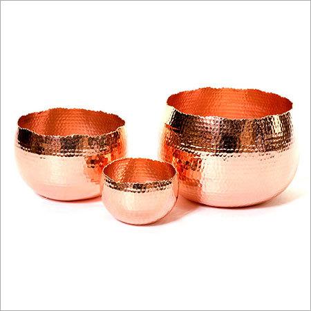 Copper Candle Holder NJO-2523HAM