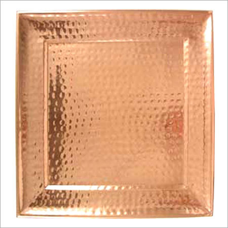 Copper Square Shape Tray