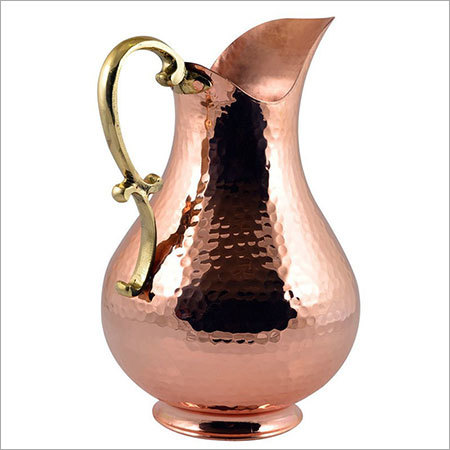 Copper Jug with Brass Handle