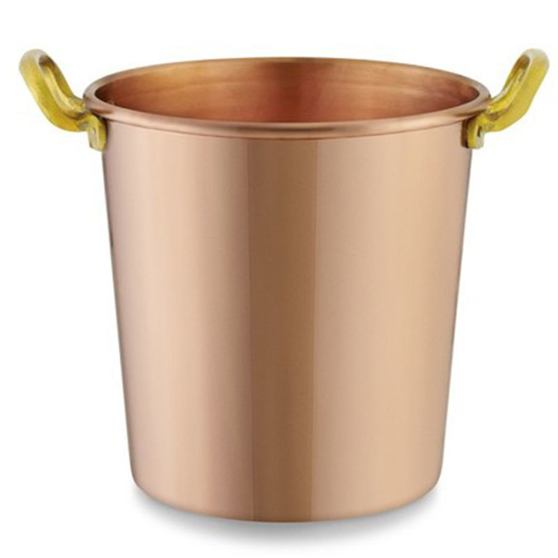 Wine Ice Bucket pure Copper Brass Handle
