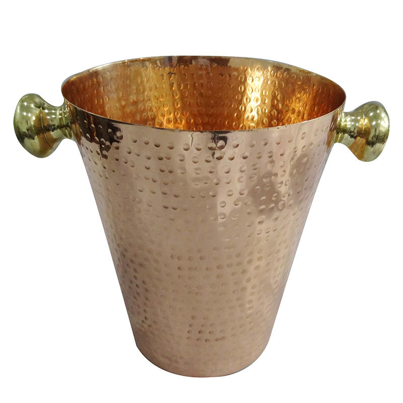 Copper Hammered Wine Ice Bucket