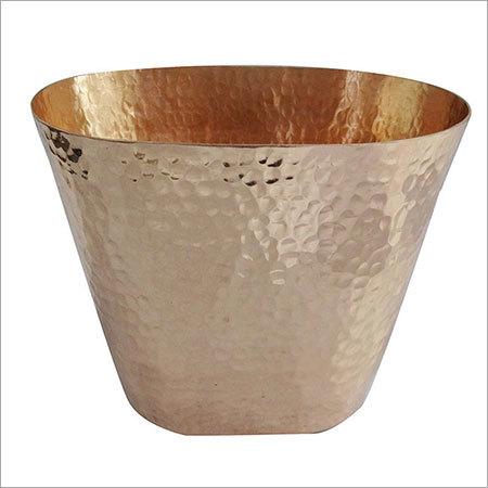 Pure Copper Hammered Oval Bucket