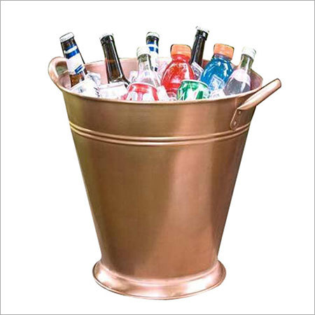 Tall Tapeted Copper Beverage Bucket