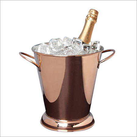 Tall Tapered Copper Beverage Tub Bucket