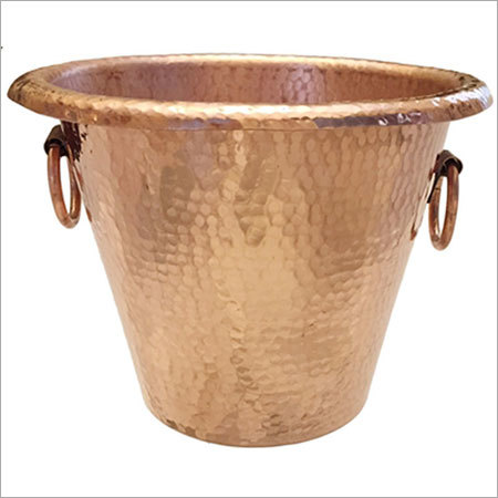 Hammered Pure Copper Bucket