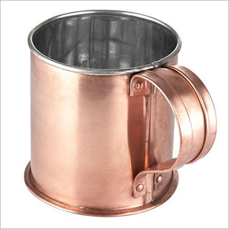 Nickel Lining handmade copper Mugs