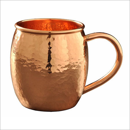 Premium 100% Solid Copper Moscow Mule Hammered Mug