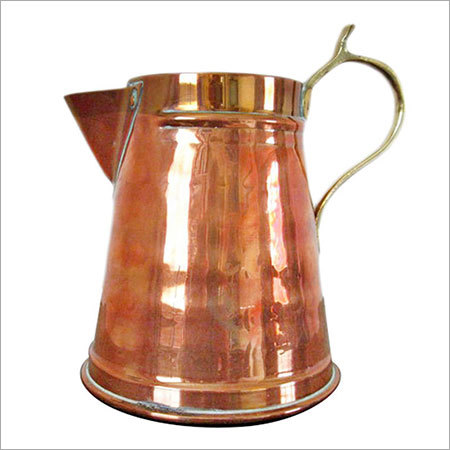 Vintage Copper handcrafted Tankard brass handle