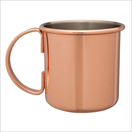 Solid Copper Moscow Mule Mug nickel lining