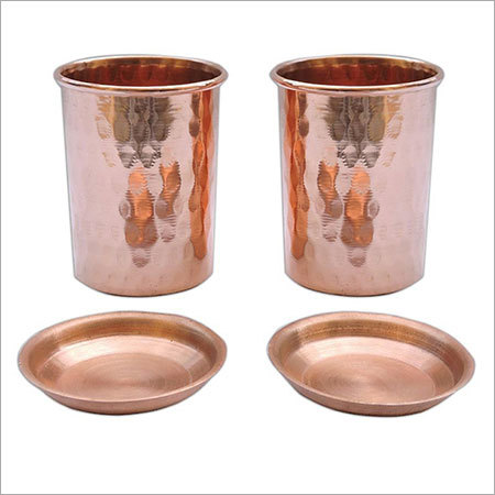 Hammered Copper Tumbler with Lid