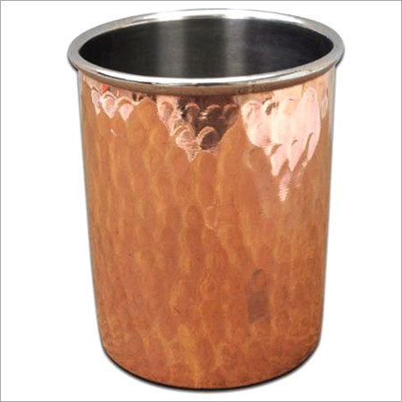 Copper Steel Hammered Tumbler