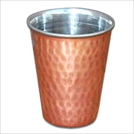 Hammered Copper Steel Tumbler