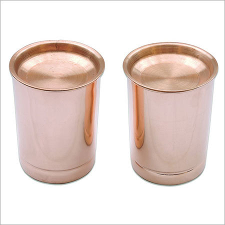 Pure Copper Tumler with Lid